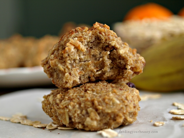 Tahini Banana Oat Cookies - Vegan, Gluten Free, Refined Sugar Free