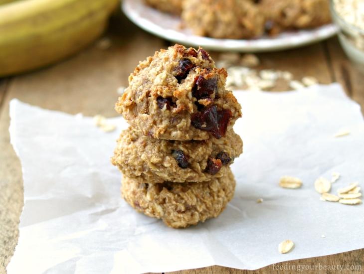 Tahini Banana Oat Cookies - Vegan, Gluten Free, Date Sweetened