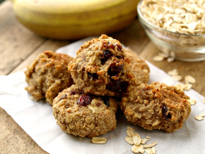 Tahini Banana Oat Cookies - Vegan, Gluten Free, Refined Sugar Free (Date Sweetened)