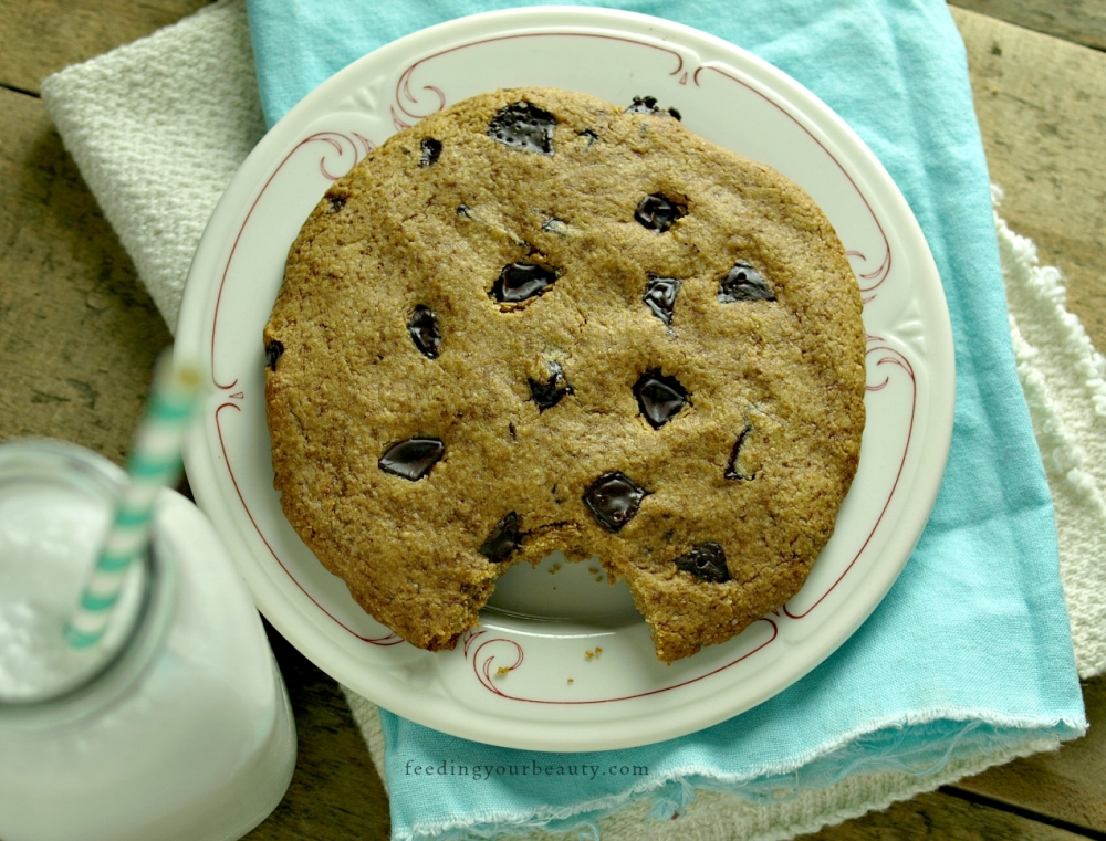 Giant Vegan Chocolate Chip Cookie for One