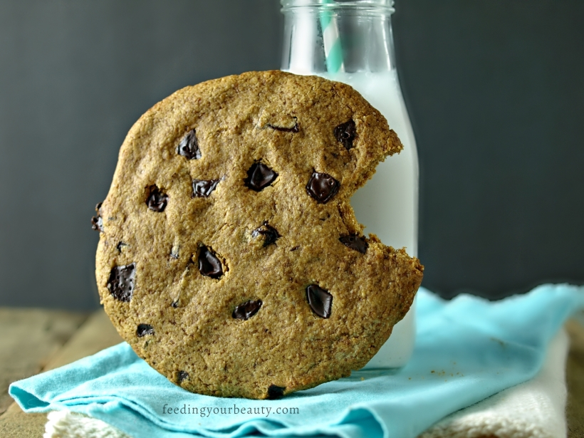 Giant Vegan + Gluten Free Chocolate Chip Cookie For One