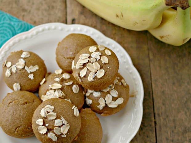 Peanut Butter Banana Blender Muffins - Vegan, Gluten Free, Oil Free, Refined Sugar Free