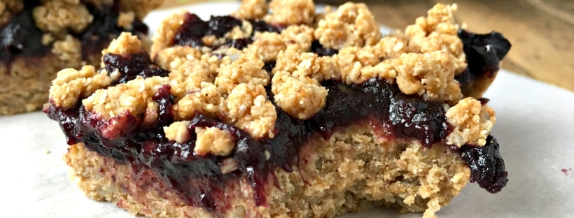 Fruit and Oat Crumble Bars - Vegan, Gluten Free, Oil Free
