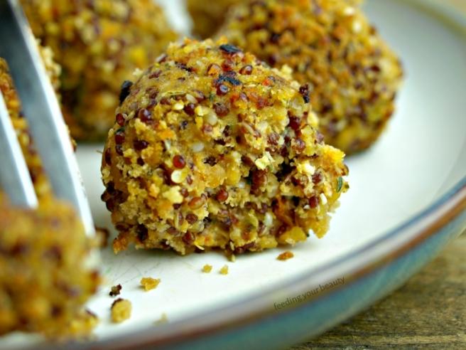 Vegan Lentil Quinoa Meatballs