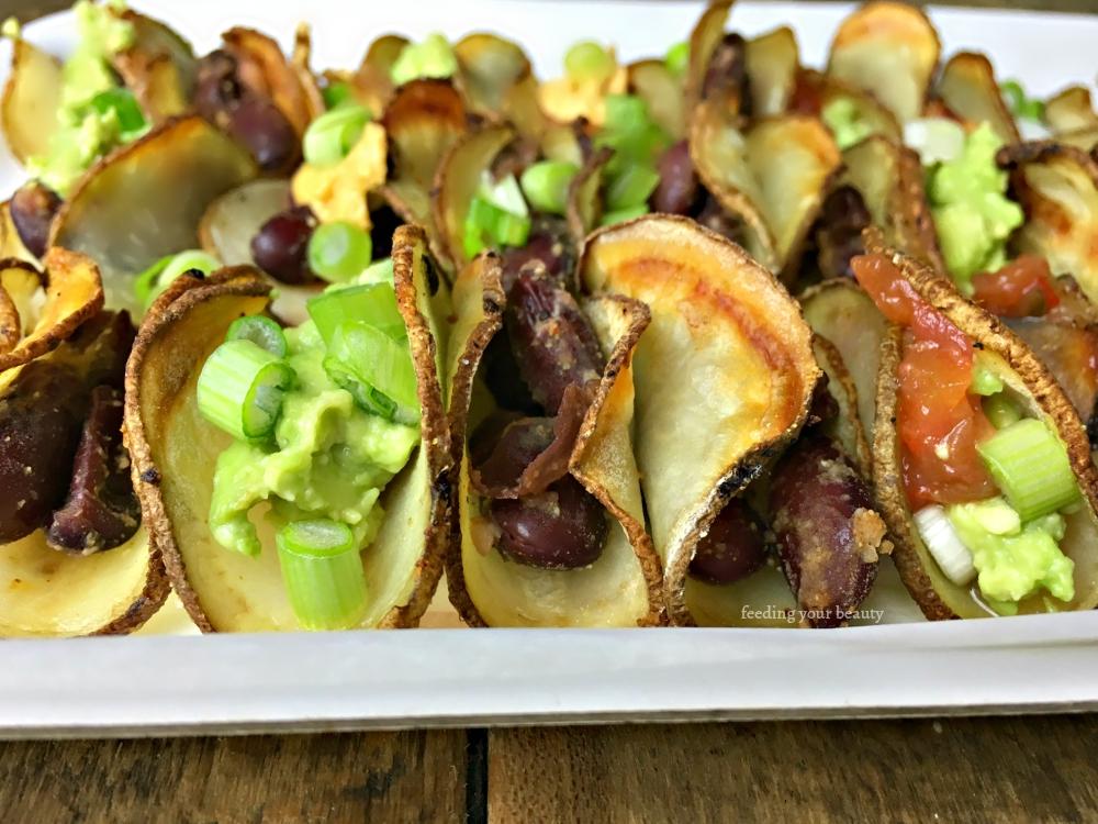 Tiny Baked Potato Tacos - Vegan, Gluten Free, Grain Free
