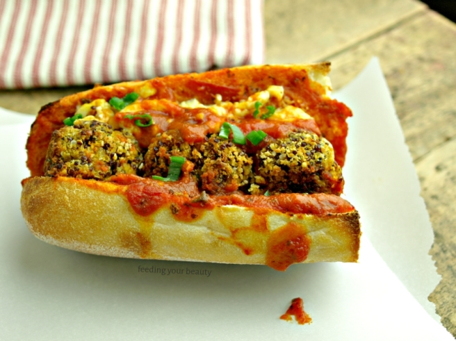 Vegan meatball sub