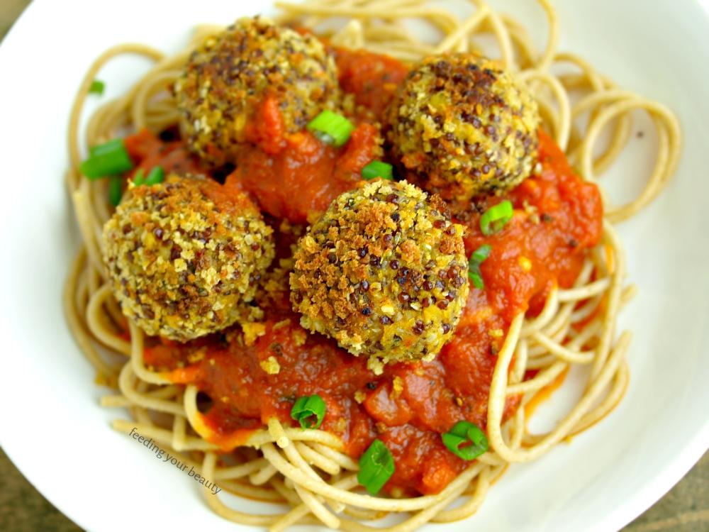 Vegan Lentil Quinoa Hemp Seed Meatballs