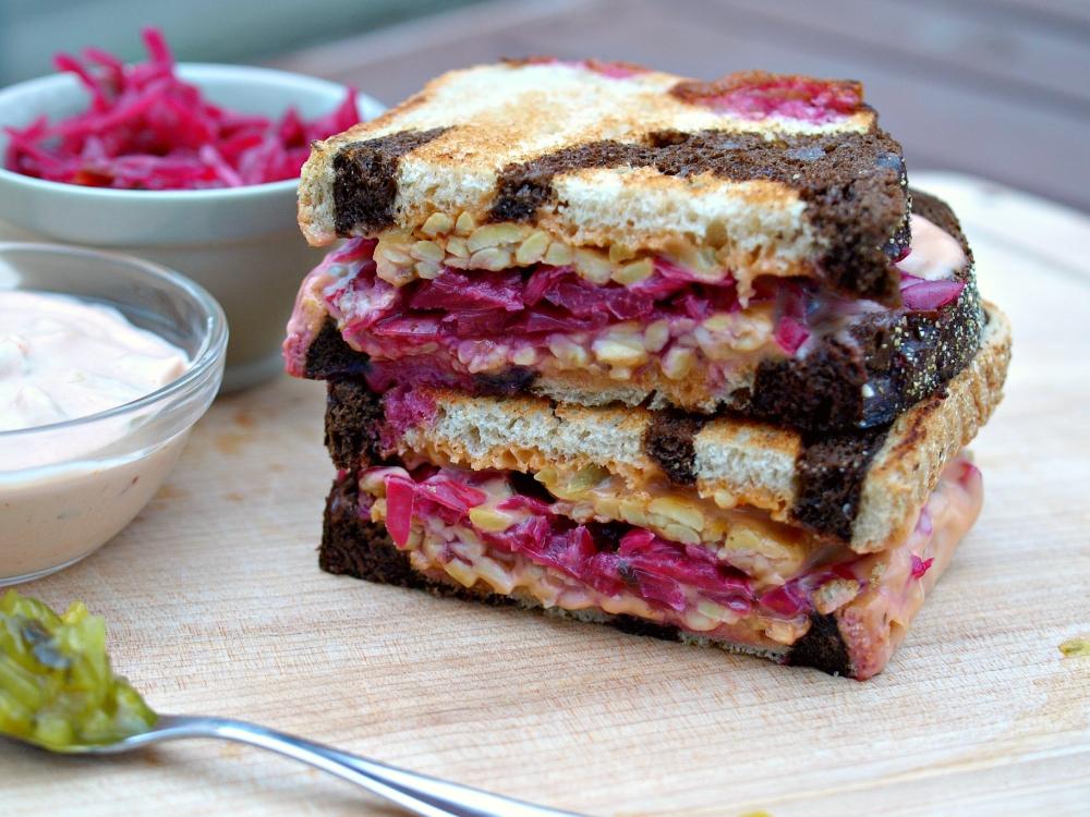 The Ruby Sandwich - Vegan Tempeh Reuben