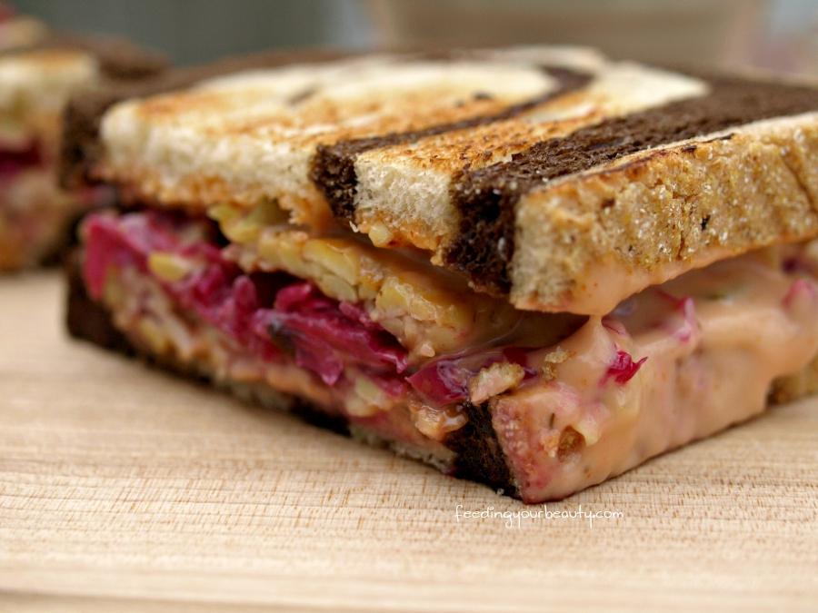 The Ruby - Vegan Tempeh Reuben Sandwich