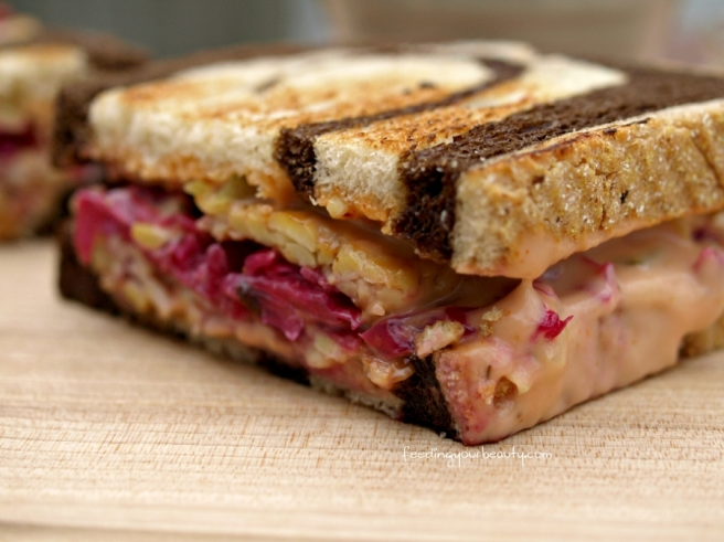 The Ruby - Vegan Tempeh Reuben Sandwich
