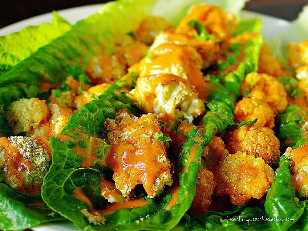Bang Bang Cauliflower Lettuce Wraps - Vegan