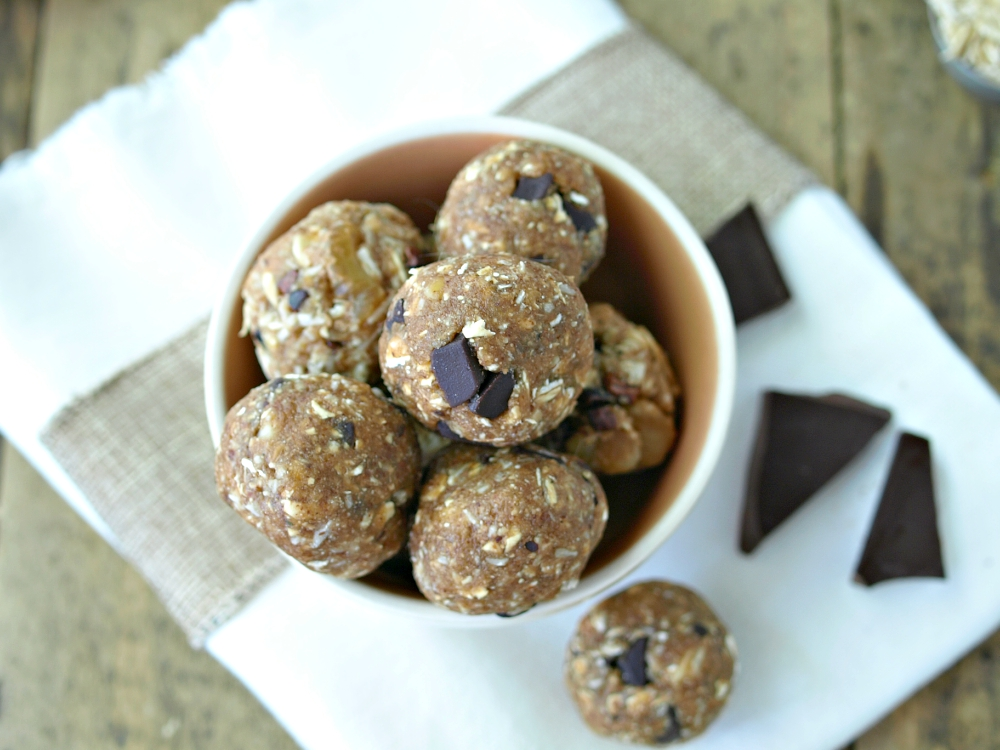Vegan Cowboy Cookie Dough Bites - vegan, gluten free and can be oil free as well