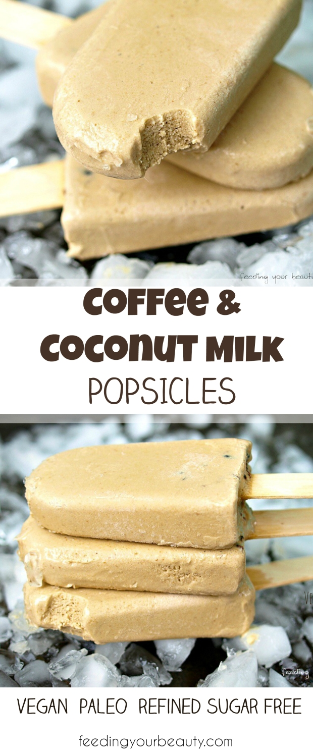 Vegan Coffee Coconut Milk Popsicles