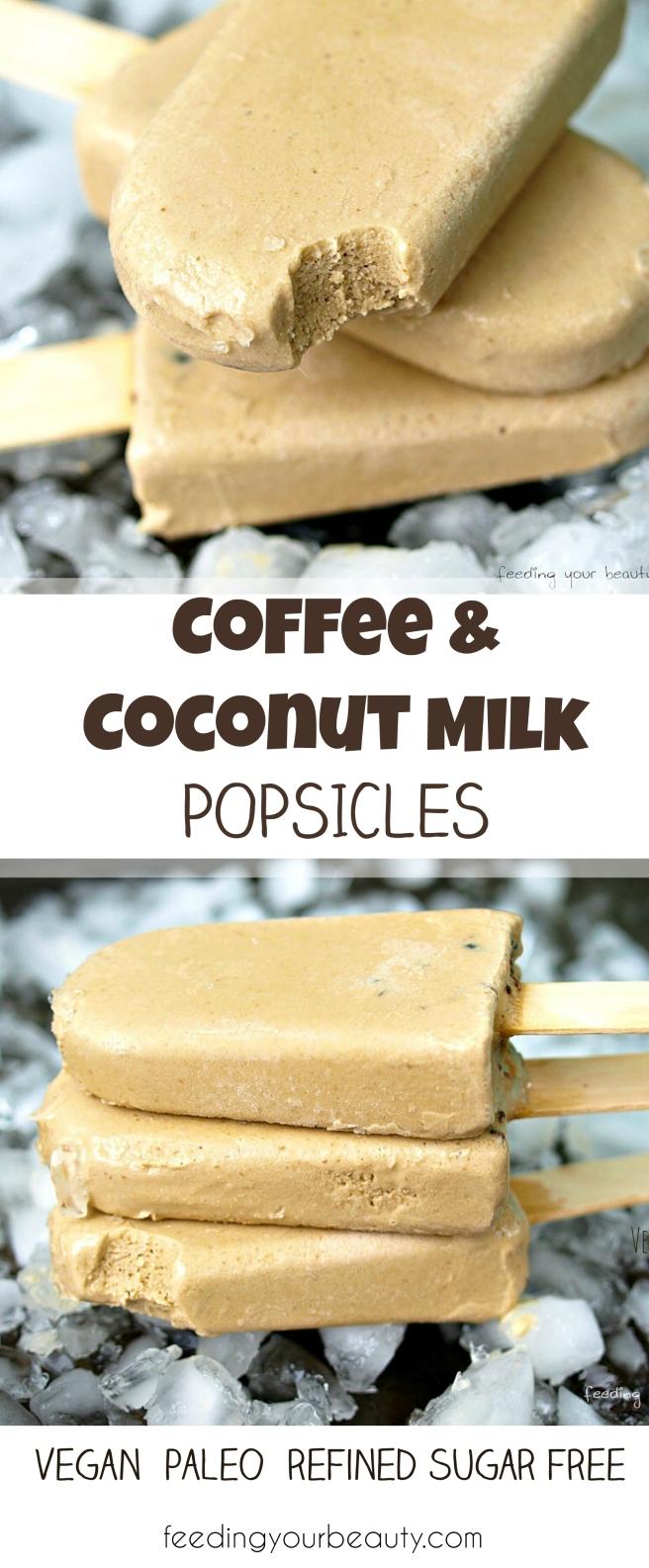 Vegan Coffee Coconut Milk Popsicles