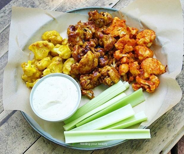 Cauliflower Wing Sampler Platter - Vegan and Gluten Free