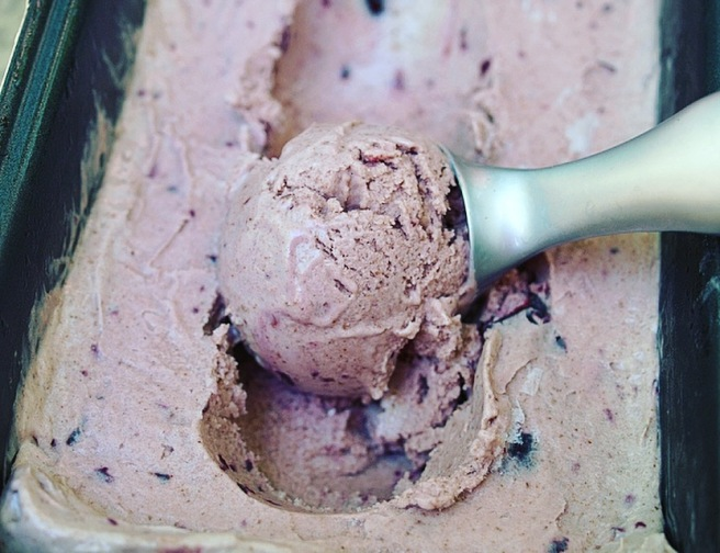 Black Cherry Ice Cream - Vegan, Naturally Flavored, Refined Sugar Free