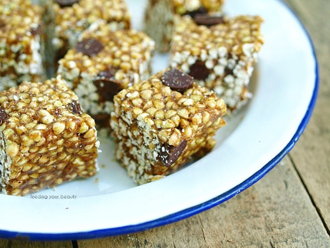Buckwheat Crispy Treats - Vegan, Refined Sugar Free, Date Sweetened, Plant-Protein rich, Oil free, gluten free - a healthier alternative to rice crispy treats