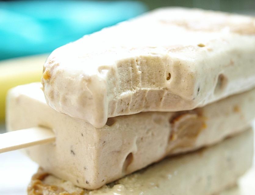 Peanut Butter Banana Fudge Pops - Vegan, Gluten Free, Sugar Free