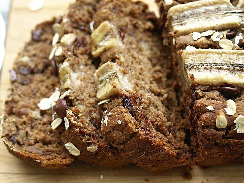 Healthy Banana Bread - Vegan, Gluten Free, Oil Free, Refined Sugar free, Date Sweetened