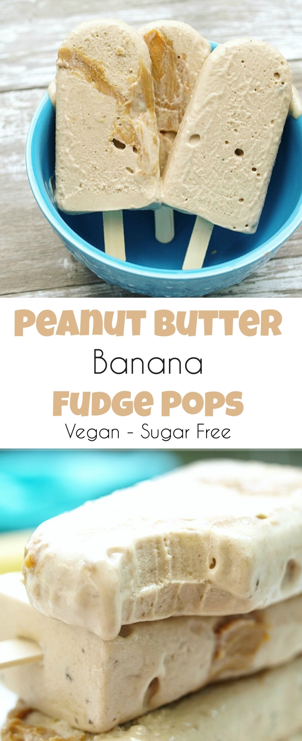 Vegan Peanut Butter Banana Fudge Pops