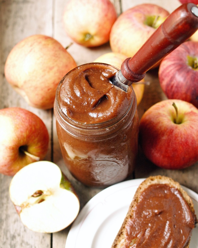 Slow Cooker Spiced Apple Butter - Healthy, Easy, Refined Sugar Free