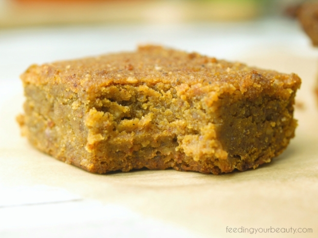 Pumpkin Spice Blondies - Vegan, Grain Free, Gluten Free, Refined Sugar Free