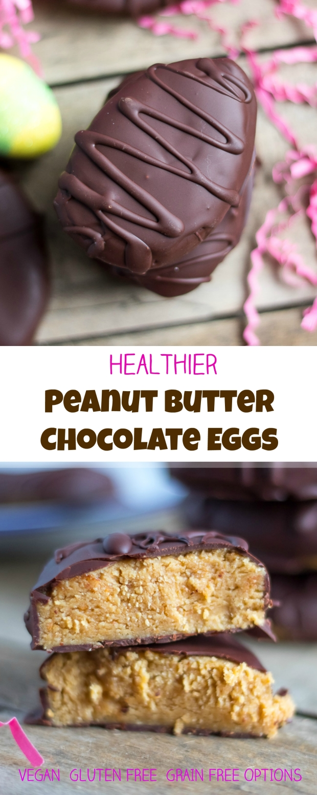 Healthier Peanut Butter Chocolate Eggs - Reese's Copycat!